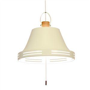 ペンダントライト/照明器具 【3灯】 スチール×天然木 ELUX(エルックス) Wood bell オフホワイト(白) 【電球別売】