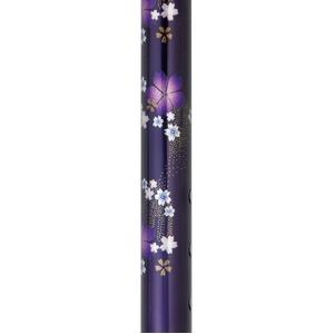 オリジナルデザインの上品で優雅な花柄 テイコブ花柄伸縮ステッキ 紺桜