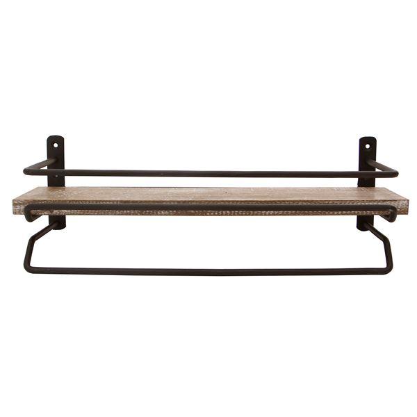 タオル掛けハンガー JOKER 木製/杉古材 スチール 幅36cm 【完成品】3