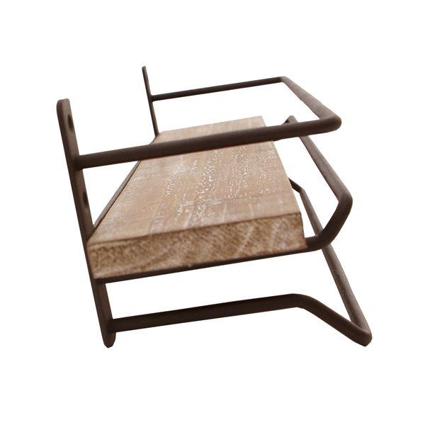 タオル掛けハンガー JOKER 木製/杉古材 スチール 幅36cm 【完成品】4