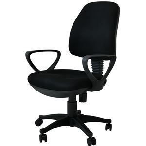 オフィスチェア(パソコンチェア/パーソナルチェア) NEWブリッジ 昇降式 高さ調節可 キャスター/肘付き ブラック(黒)