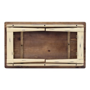折りたたみテーブル(ローテーブル/コーヒーテーブル) Daisy 木製 幅80cm 幕板付き ショコラ 【完成品】 の画像