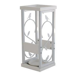 傘立て nico 【幅23cm】 木製×スチール コンパクト 受け皿付き WH ホワイト(白)