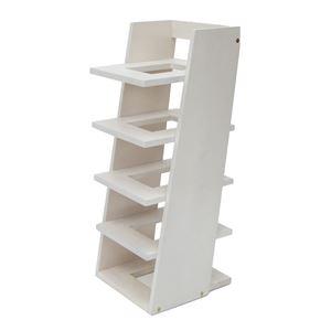 スリッパラック RECTAN 5段 棚式 木製 ホワイト