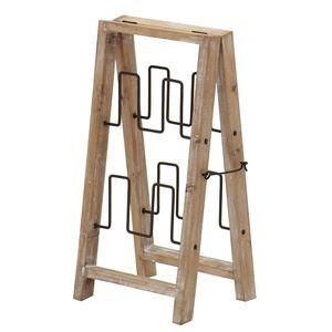 スリッパラック(スリッパ収納/スリッパ立て) ジョーカー 幅30cm 木製×スチール 【完成品】 - 拡大画像