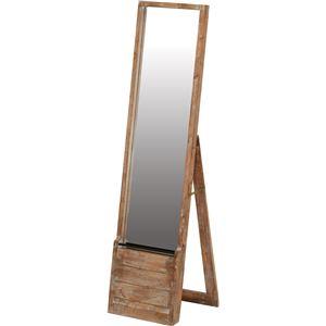 収納ラック付きスタンドミラー JOKER 木製/...の商品画像