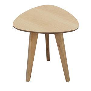 サイドテーブル(ミニテーブル/補助机) ビスキュイ 木製 高さ45cm 北欧風 ナチュラル - 拡大画像