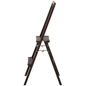 アルミ製脚立 【ジラフ】折畳/木目調2段