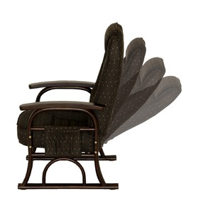 漣-さざなみ- ラタン高座椅子 リクライニングチェア ブラウン