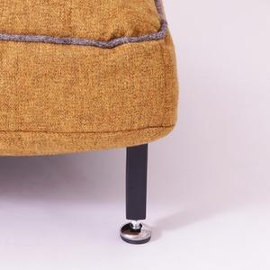 スチールレッグソファ【1人掛け】 Harmonia(ハルモニア) ローソファ 座椅子 ブルー