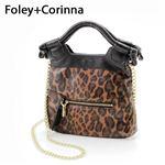 【送料無料】【在庫処分!】Foley+Corinna 2WAYバッグ FC TINY CITY Brown Leopard×Blackの画像