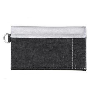 DIESEL (ディーゼル ) X01415 PS878 H1145 折長財布 ブラック/シルバーデニム h02