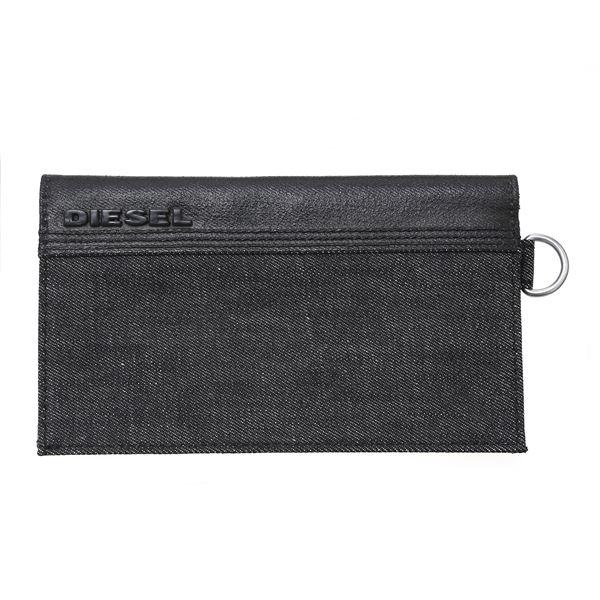 DIESEL (ディーゼル ) X01415 PS878 H1669 折長財布 ブラックデニム f00