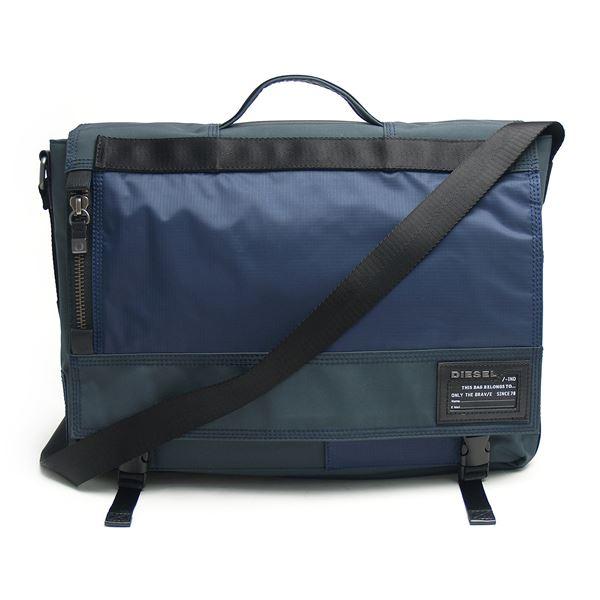 DIESEL (ディーゼル ) X01681 PR520 H4831 クロスボディブリーフバッグ Ebony/Insignia Bluef00