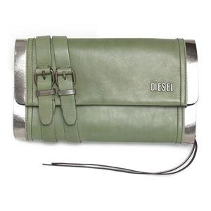 DIESEL (ディーゼル ) X01725 PS945 H4547 クラッチバッグ Military Green/Gun Metal h01