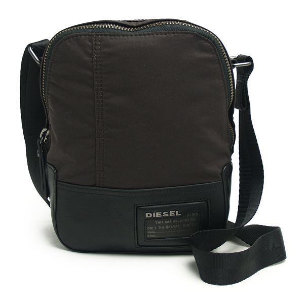 DIESEL (ディーゼル ) X02120 P0163 H3720 クロスボディショルダー Dark Brown/Blackf00