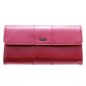 DIESEL (ディーゼル ) X02414 PR035 H3090 折長財布 Metallic Pinkf01