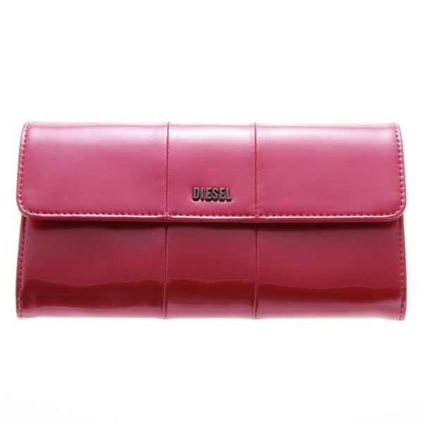 DIESEL (ディーゼル ) X02414 PR035 H3090 折長財布 Metallic Pinkf00