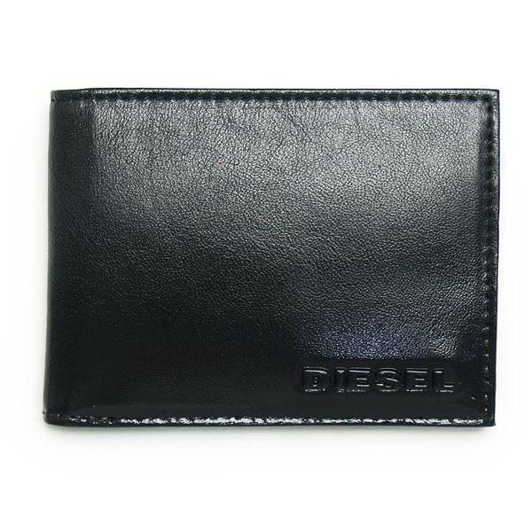 DIESEL (ディーゼル ) X02455 P0239 T8013 二つ折り財布 Black f00