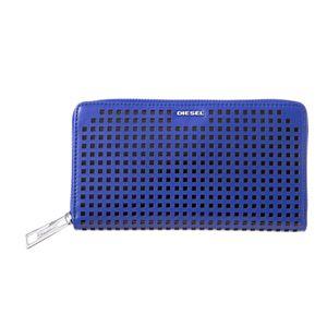 DIESEL (ディーゼル ) X03695 PR317 H5987 SURF BLUE ラウンドファスナー長財布