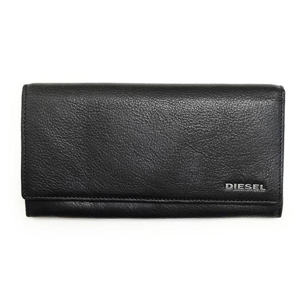 DIESEL (ディーゼル ) X03359 PR013 H2547 Black/Vibrant Green 長財布f00