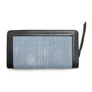 DIESEL (ディーゼル ) X03402 PR570 H4807 Light Blue/Black ラウンドファスナー長財布
