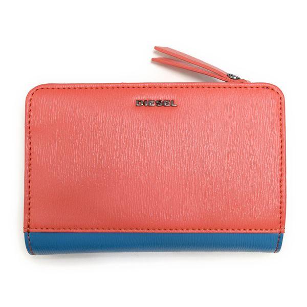 DIESEL (ディーゼル ) X03855 PR160 H5981 Cayenne/Dark Torquoise 二つ折り財布f00