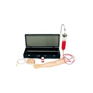 上肢注射訓練模型(看護実習モデル人形) 皮膚・血管・模擬血液用原液(100cc)付き M-117-1 - 拡大画像