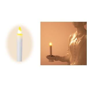 LEDろうそく 大 戴帽式用(手持ち、立像共用)親火 H18cm