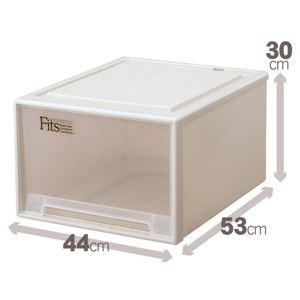 クローゼット収納/衣装ケース 【幅44cm×高さ30cm】 ワイドサイズ 『Fits フィッツケース』 日本製