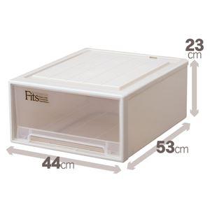 クローゼット収納/衣装ケース 【幅44cm×高さ23cm】 ワイドサイズ 『Fits フィッツケース』 日本製