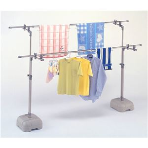 屋外用物干しスタンド/洗濯物干し台 スタンド単品 【ブローベース付き】 高さ105~170cm