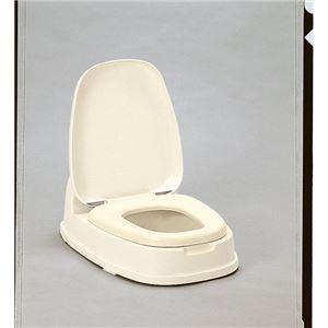 和式トイレ用洋式便座/簡易洋式便座 【両用型】 ベージュ 抗菌加工 ポリプロピレン製