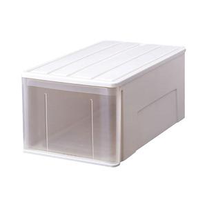 (3個セット) たっぷり収納ケース/衣装ケース 【幅36cm×高さ30cm】 ホワイト 日本製