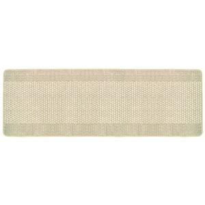 洗いやすいキッチンマット/インテリアマット 【60cm×180cm】 ベージュ ループタイプ 日本製 『優踏生』