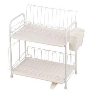 水切りかご(水切りラック/キッチン用品) 2段 ...の商品画像