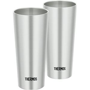真空断熱タンブラー 【400ml/2個セット】 ステンレス 直径7cm×高さ16cm/1個 保温・保冷 『THERMOS サーモス』