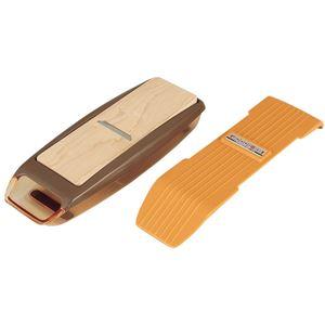 鰹節削り器(調理器具)調整可能かんな刃滑り止め/半透明ケース付き日本製『貝印』