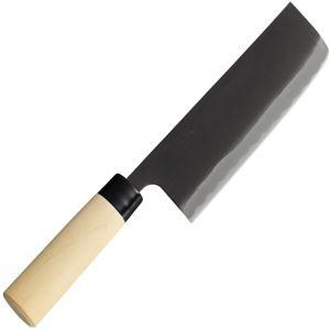 貝印 菜切り包丁/和包丁 【165mm】 両刃付け 西型 伝統製法鍛造和造り 『関孫六 銀寿』 日本製