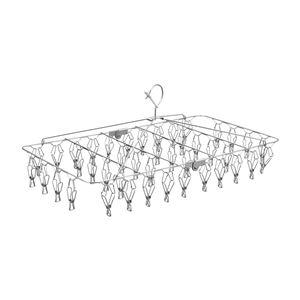 ピンチハンガー(角ハンガー/洗濯物干し) 42ピンチ 幅60cm オールステンレス製 『レック』