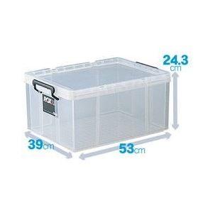 フタ付き収納ボックス/プラスチックケース 【幅39cm×高さ24.3cm】 クリアタイプ 『ROX ロックス』 日本製