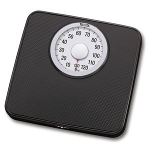 TANITA タニタ シンプル体重計/ヘルスメーター 【アナログ】 ブラック(黒) 最小表示:1kg