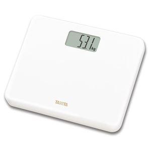 TANITA タニタ コンパクト体重計/ヘルスメーター 【デジタル/ホワイト】 軽量 ステップオン式