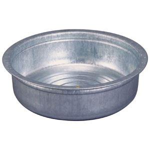 トタン製タライ/金たらい 【48cm】 外寸直径54.7cm 容量24.8L 日本製 - 拡大画像