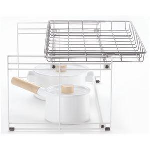 引き出し用整理ラック/キッチン収納【引き出し式システムキッチン対応】スチール製スライド棚『トトノ』
