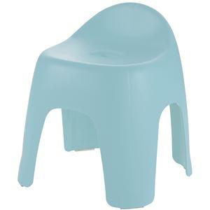 バスチェア(風呂椅子/腰掛け)ハイチェアタイプ座面高30cmライトブルー『ハユール』