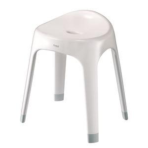 バスチェア(風呂椅子/腰掛け) ホワイト 座面高...の商品画像