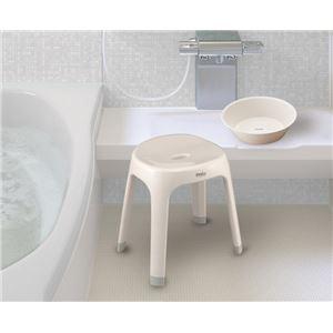 バスチェア(風呂椅子/腰掛け) ホワイト 座面高40cm 銀イオン配合 背もたれサポート付き 『Emeal』