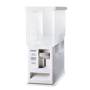 計量米びつ/ライスストッカー 【6kg型 ホワイト】 計量単位(約):1合 プラスチック製 洗える - 拡大画像