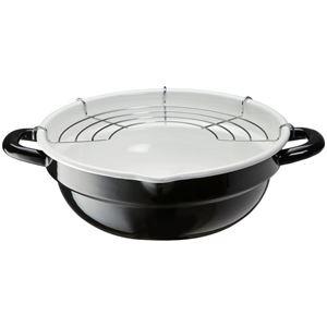 ホーロー製天ぷら鍋/揚げ物鍋 【24cm】 揚げ...の商品画像